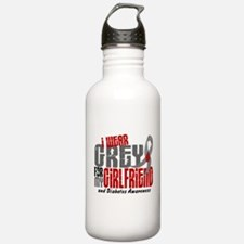 I Wear Grey 6 Diabetes Water Bottle
