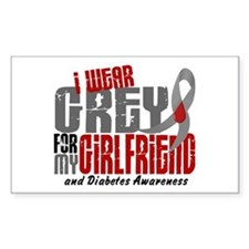 I Wear Grey 6 Diabetes Decal