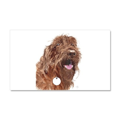 Chocolate Labradoodle3 Car Magnet 20 x 12