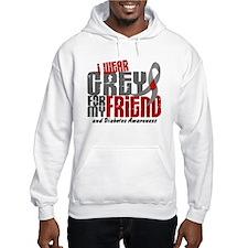 I Wear Grey 6 Diabetes Hoodie