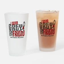 I Wear Grey 6 Diabetes Drinking Glass