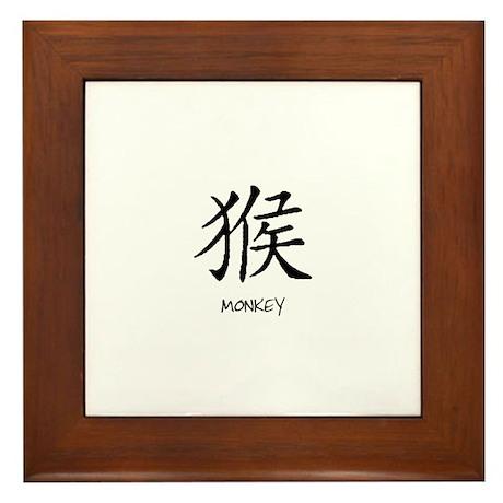 Year Monkey Framed Tile