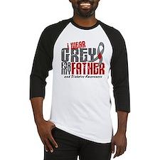 I Wear Grey 6 Diabetes Baseball Jersey