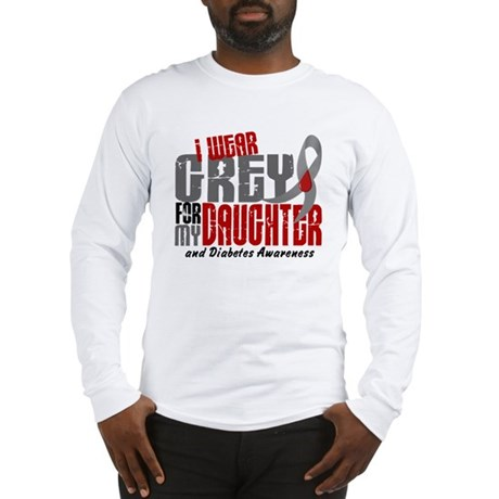 I Wear Grey 6 Diabetes Long Sleeve T-Shirt