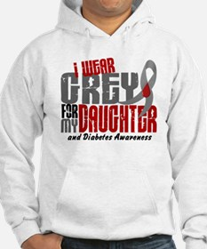 I Wear Grey 6 Diabetes Hoodie