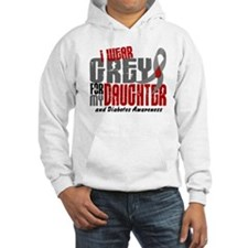 I Wear Grey 6 Diabetes Jumper Hoody