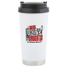 I Wear Grey 6 Diabetes Travel Mug