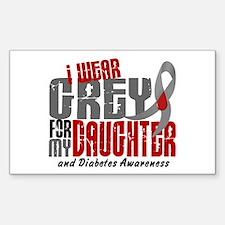 I Wear Grey 6 Diabetes Decal