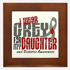 I Wear Grey 6 Diabetes Framed Tile