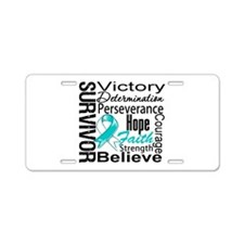 Cervical Cancer Survivor Aluminum License Plate