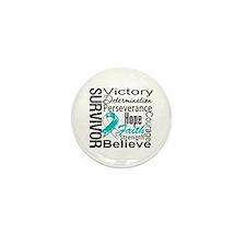 Cervical Cancer Survivor Mini Button (10 pack)