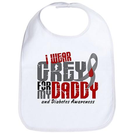 I Wear Grey 6 Diabetes Bib