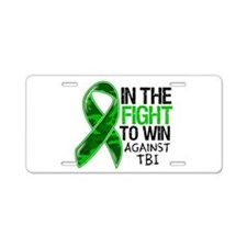 In The Fight TBI Aluminum License Plate