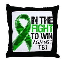 In The Fight TBI Throw Pillow