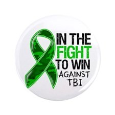 "In The Fight TBI 3.5"" Button"