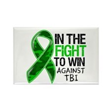 In The Fight TBI Rectangle Magnet