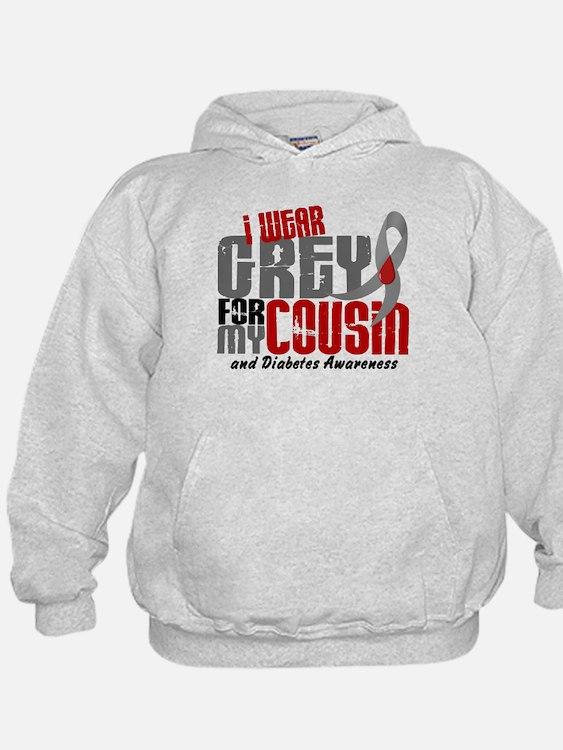 I Wear Grey 6 Diabetes Hoody
