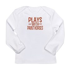 PLAYS Paint Horses Long Sleeve Infant T-Shirt
