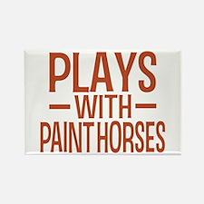 PLAYS Paint Horses Rectangle Magnet