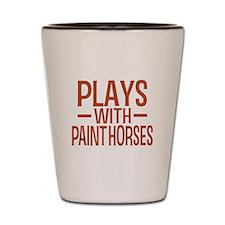 PLAYS Paint Horses Shot Glass