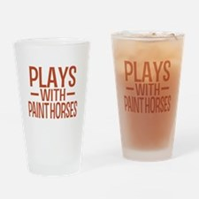PLAYS Paint Horses Drinking Glass