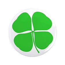 "Four Leaf Clover 3.5"" Button"