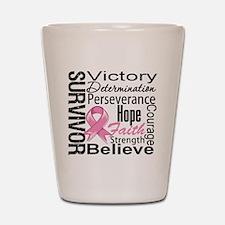 Breast Cancer Survivor Shot Glass