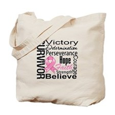 Breast Cancer Survivor Tote Bag