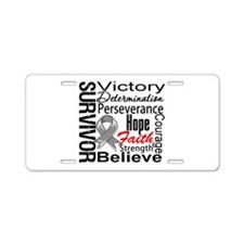 Brain Cancer Survivor Aluminum License Plate