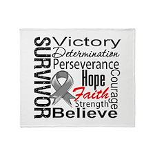 Brain Cancer Survivor Throw Blanket