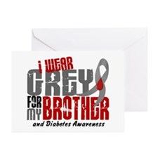I Wear Grey 6 Diabetes Greeting Cards (Pk of 20)
