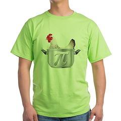 Chicken Pot Pi Green T-Shirt