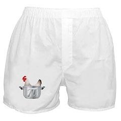Chicken Pot Pi Boxer Shorts