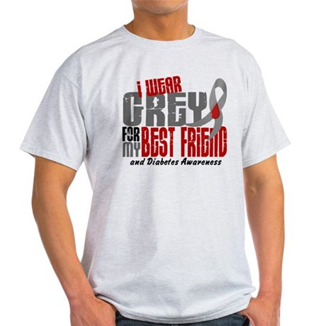 I Wear Grey 6 Diabetes Light T-Shirt