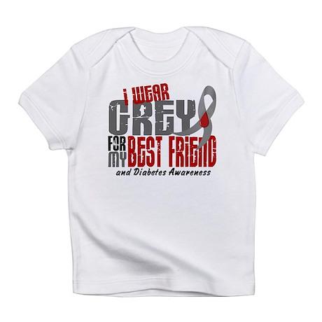 I Wear Grey 6 Diabetes Infant T-Shirt