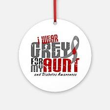 I Wear Grey 6 Diabetes Ornament (Round)