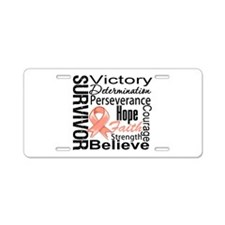 Cancer Survivor Aluminum License Plate