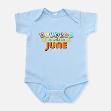 Alisson is Due in June Infant Bodysuit