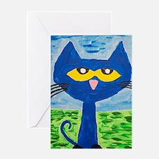 Unique Blue cat Greeting Card