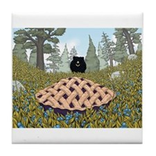 Blueberry Pie Tile Coaster