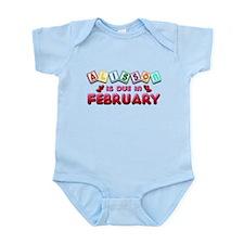 Alisson is Due in February Infant Bodysuit