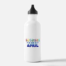 Alisson is Due in April Water Bottle