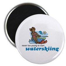 Never Too Young to Start Waterskiing Magnet