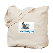 Never Too Young to Start Waterskiing Tote Bag