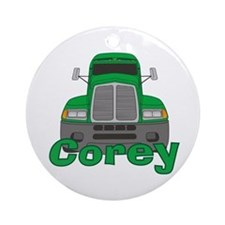 Trucker Corey Ornament (Round)