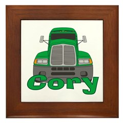 Trucker Cory Framed Tile