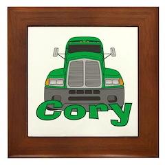 Trucker Cory Framed Tile