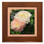 Mama's Two Beautiful Roses Framed Tile