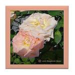Mama's Two Beautiful Roses Tile Coaster