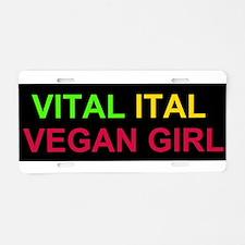 Cute Ital Aluminum License Plate